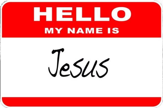 Jesus Nametag